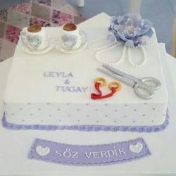 Verlobungstorte für Leyla und Tugay...